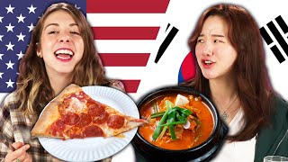 Americans & Koreans Swap School Lunches