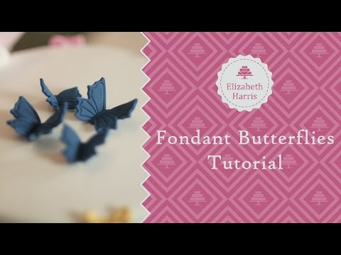 How To Make Fondant Butterflies | Cake Decorating Tutorial