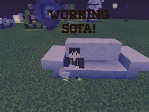 Minecraft Pe how to build a working couch.