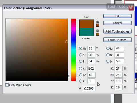 Select Foreground and Background Colors in Photoshop CS3