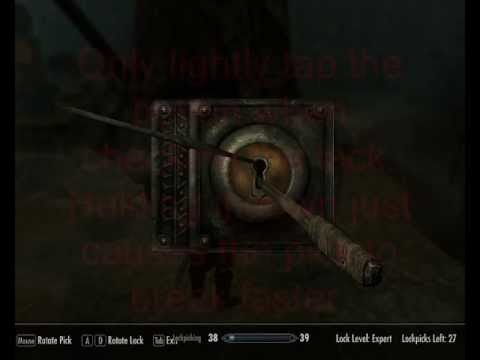 Skyrim Pick Expert Lock with low Lockpicking and no Perks