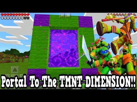 Minecraft Pe - Portal To The Teenage Mutant Ninja Turtles Dimension - Mcpe Portal To The TMNT!!