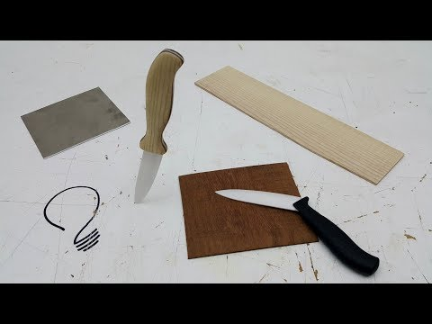 Making a Knife Handle on the Scroll Saw