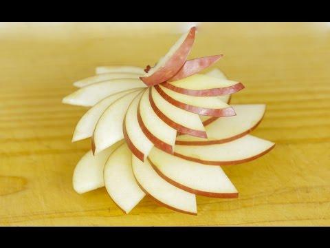 Simple Apple Swirl Garnishing Idea