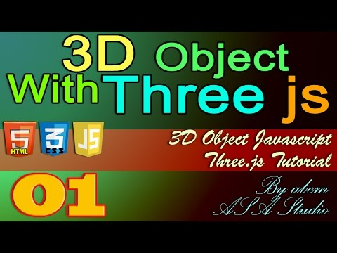 3D Object With Three Js, 1, Preview and Setting The Scene, Javascript Tutorial