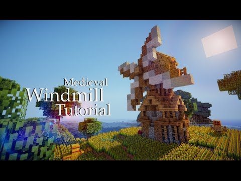 Minecraft Medieval Windmill Tutorial (Design #3)