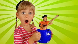 The Crow dropped Pasha into the water Pretend play with Pasha and Alena Compilation for kids