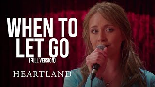 When to Let Go Full Version   Amber Marshall and Shaun Johnston   Heartland 1004   CBC