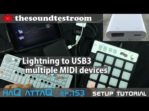 Lightning to USB 3 multiple MIDI devices with iPad │ haQ attaQ 153