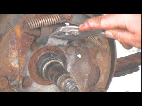 Rusted Boat Trailer Brake Shoes