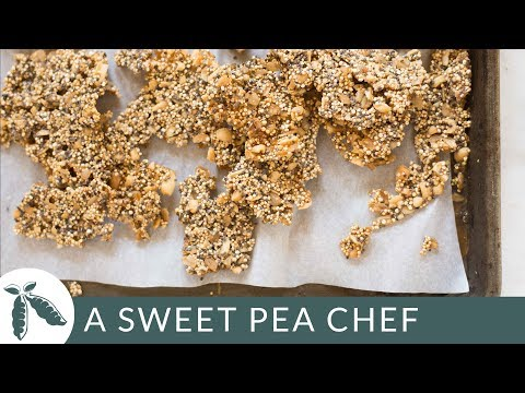 Quinoa Peanut Brittle | Sweets Without Refined Sugar | A Sweet Pea Chef