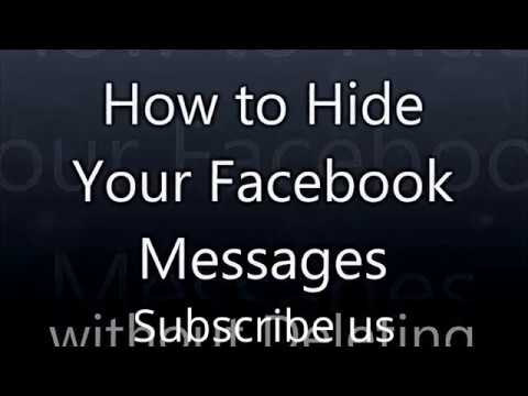 How To Hide Facebook Messages Without Remove