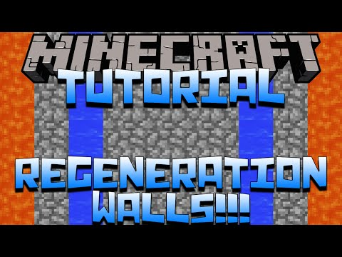 Minecraft Factions - How To Build A Regeneration Wall
