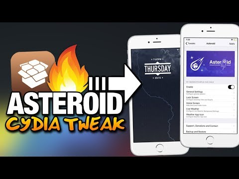 ASTEROID - Animated WEATHER BACKGROUNDS & System Wide WEATHER CUSTOMIZATION TWEAK For iPhone