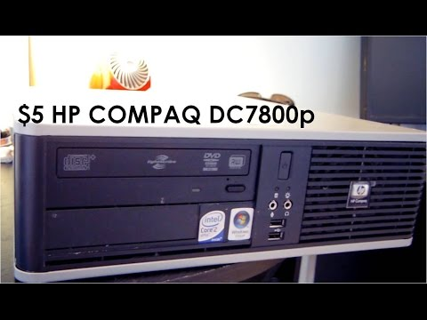 Garage Sale Finds:$5 HP Compaq DC7800p Overview, Teardown, Demostration