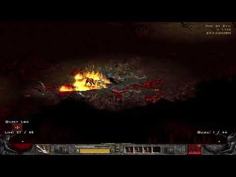 Diblo 2 - Part 2: Druid lets play go into den of evil to find evil