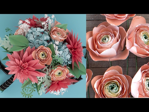 How to Make a Paper Flower Bouquet: Ranunculus