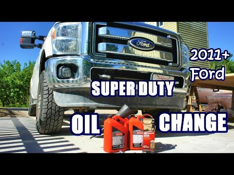 OIL & FILTER Change. 2011 and up Ford SUPER DUTY 6.7L DIESEL