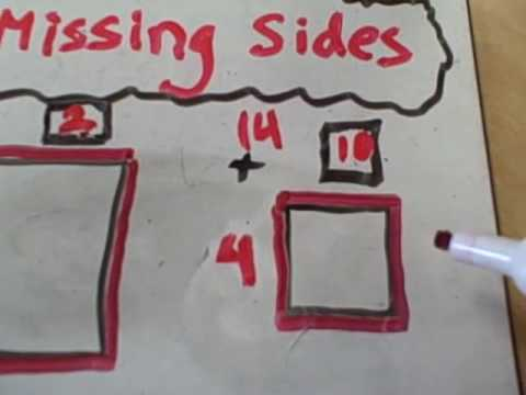 Finding Perimeter and Missing Side Lengths of a Rectangle