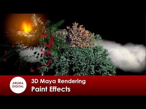3D Maya 276 Rendering Paint Effects