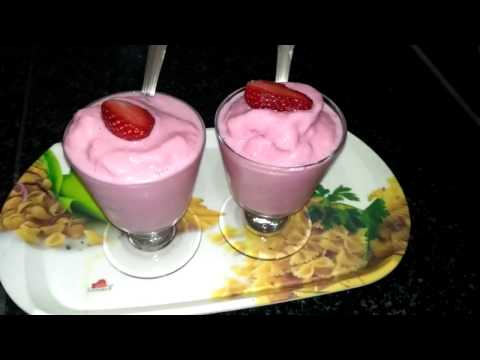 Strawberry Milkshake without ice cream for your kids || SUMMER SPECIAL in Tamil