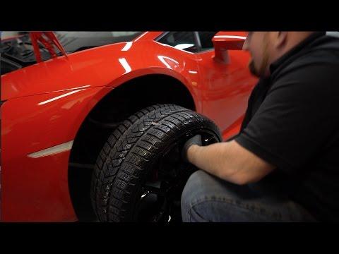 Lamborghini Gets Snow Tires
