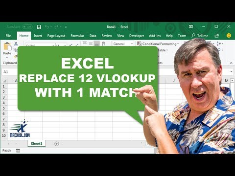 Learn Excel - Replace 12 VLOOKUP with 1 MATCH - Podcast 2028