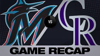 Hampson lifts Rockies in 7-6 walk-off win | Marlins-Rockies  Game Highlights 8/18/19
