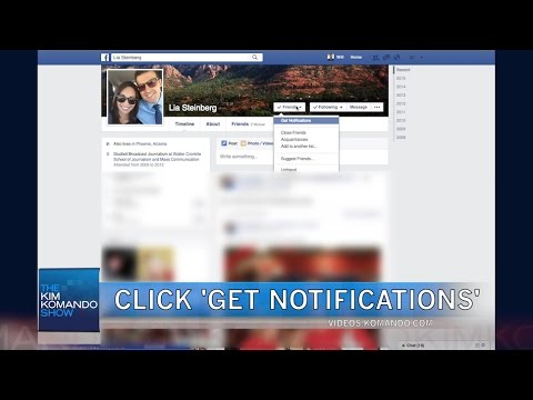 Turn on notifications for specific friends