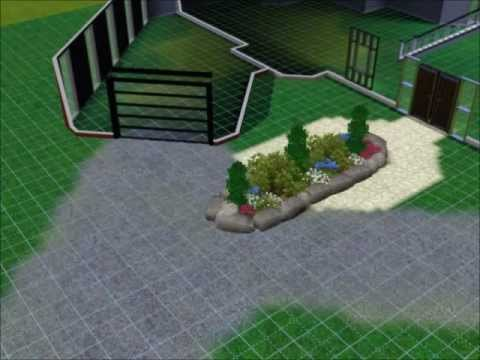 The Sims 3 Let's build house #1 - part 2 - exterior and garden design