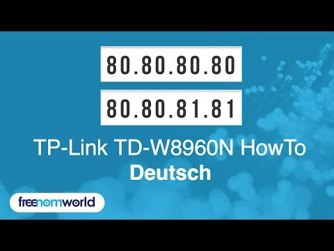 Freenom World TP-Link TD-W8960N HowTo (German)