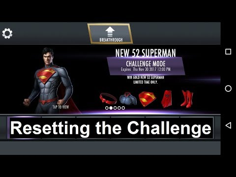 Injustice Mobile Android: Resetting the New 52 Superman challenge