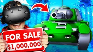 Selling The WORLD'S MOST POWERFUL TANK In VR (Weaponry Dealer VR Funny Gameplay