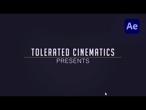 How to Create a Simple Intro in After Effects - TUTORIAL