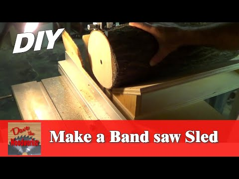 How to make a Band saw Sled to cut Log Slices