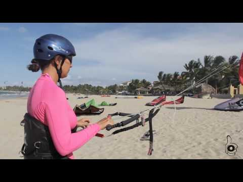 Flying a Kite in Water - Learn How to Kiteboard with Laurel Eastman