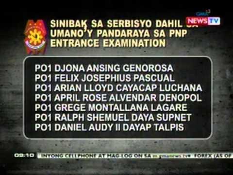 NTG: NAPOLCOM, natuklasang may pandaraya sa April 2011 PNP Entrance Exam