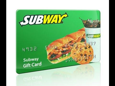 Subway Giftcard Giveaway?