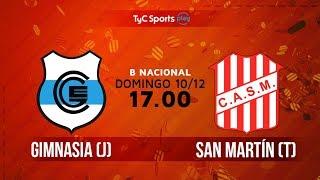 Primera B Nacional: Gimnasia (J) vs. San Martín (T) | #BNacionalenTyCSports
