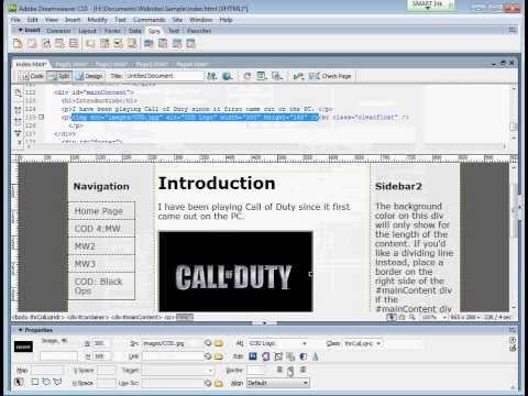 Adding Image in Dreamweaver CS3