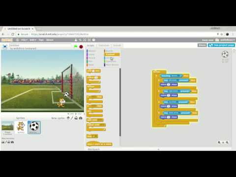 How to make a mini soccer game using Scratch