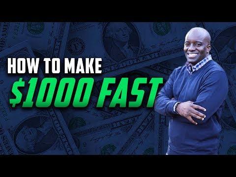 Make 1000 Dollars Fast - How to Make $1000 Fast with Affiliate Marketing