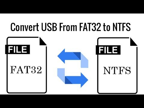 How to convert USB flash from FAT32 to NTFS Without losing Data