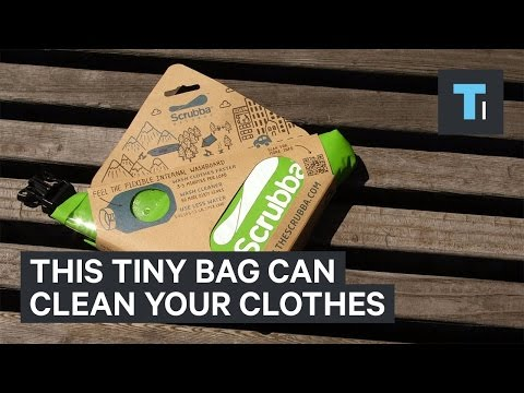 This tiny bag can clean your clothes