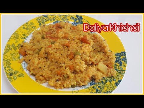 Daliya Khichdi Recipe in Hindi ||Weight Loss Recipe||Broken Wheat ||Gujarati Kitchen