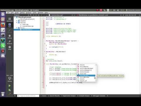 Como Hacer un Blending  (Mezcla) con trackBar en OpenCv y Qt