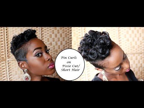 Pin Curls on Pixie Cut/ Short Hair