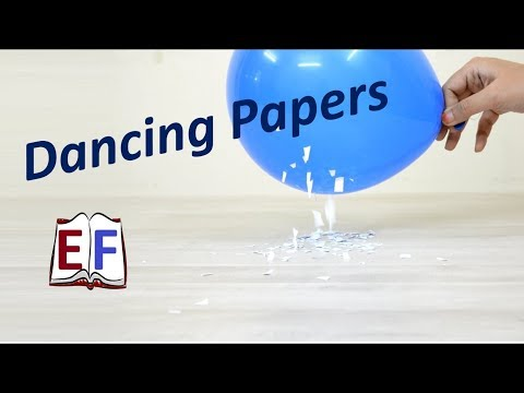 Dancing Papers : Tribo Electric Series Science Experiment