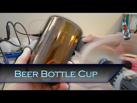 Finishing a Cut Bottle into a Usable Cup