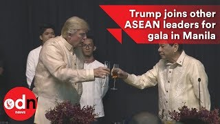 Trump joins other ASEAN leaders for gala in Manila
